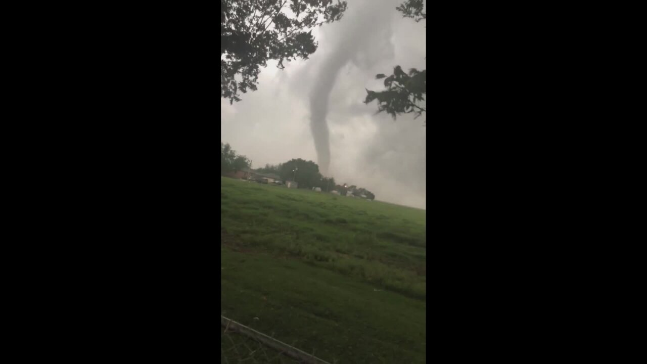 There were reports of 30 tornadoes in the central US on Tuesday