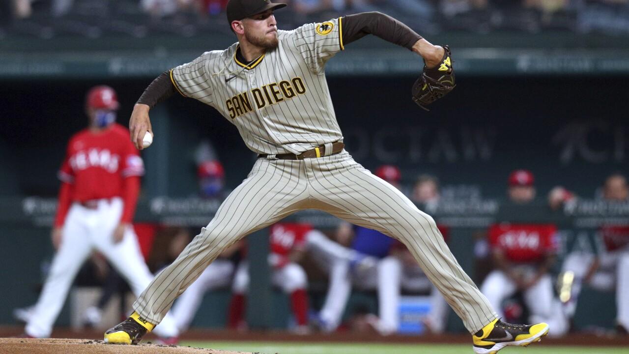 Joe Musgrove Padres Rangers Baseball