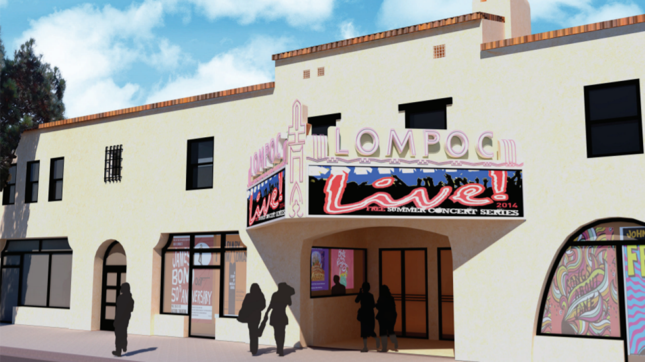 Lompoc Theatre Project renovation rendering