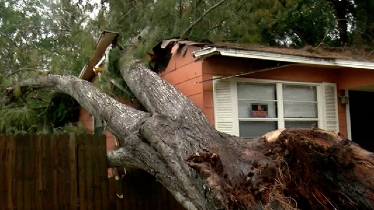 Possible tornado causes damage across St. Pete