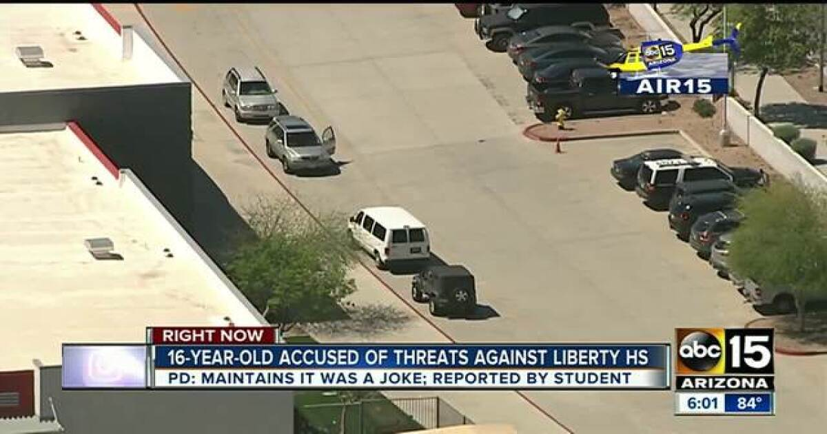 Teen Arrested After School Threats Made Online To Liberty High School In Peoria