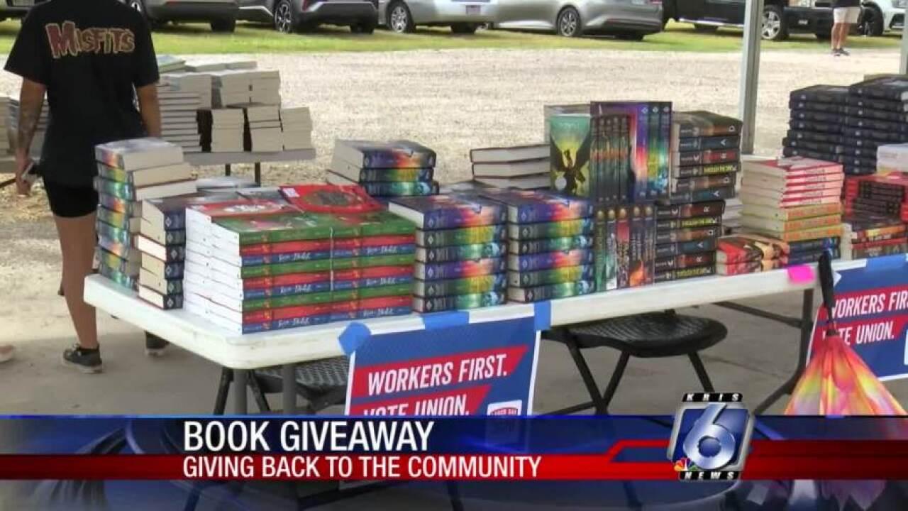 Coastal Bend Labor Council book giveaway