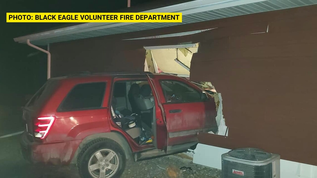 Vehicle crashes into Black Eagle house, driver arrested