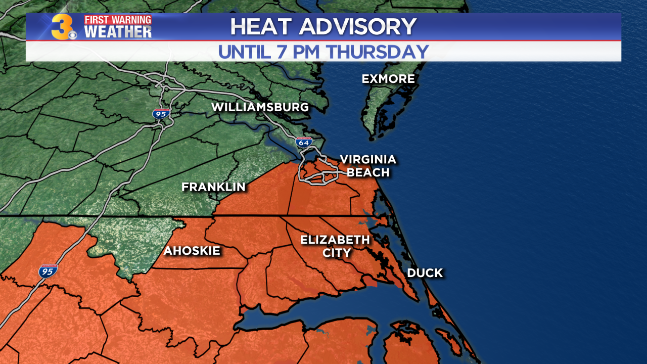 First Warning Forecast: Different day, same dangerous heat and humidity