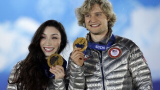 Meryl Davis & Charlie White entering U.S. Figure Skating Hall of Fame