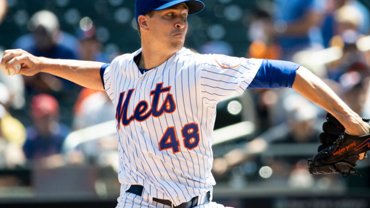 DeGrom lowers ERA to 1.77, gets run support; Mets blank Reds