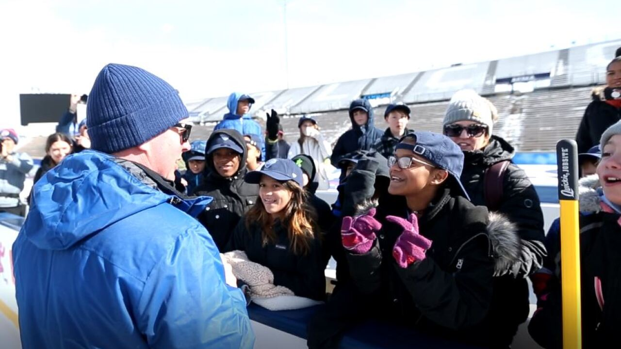 Elementary school tour of Falcon Stadium for NHL Stadium Series