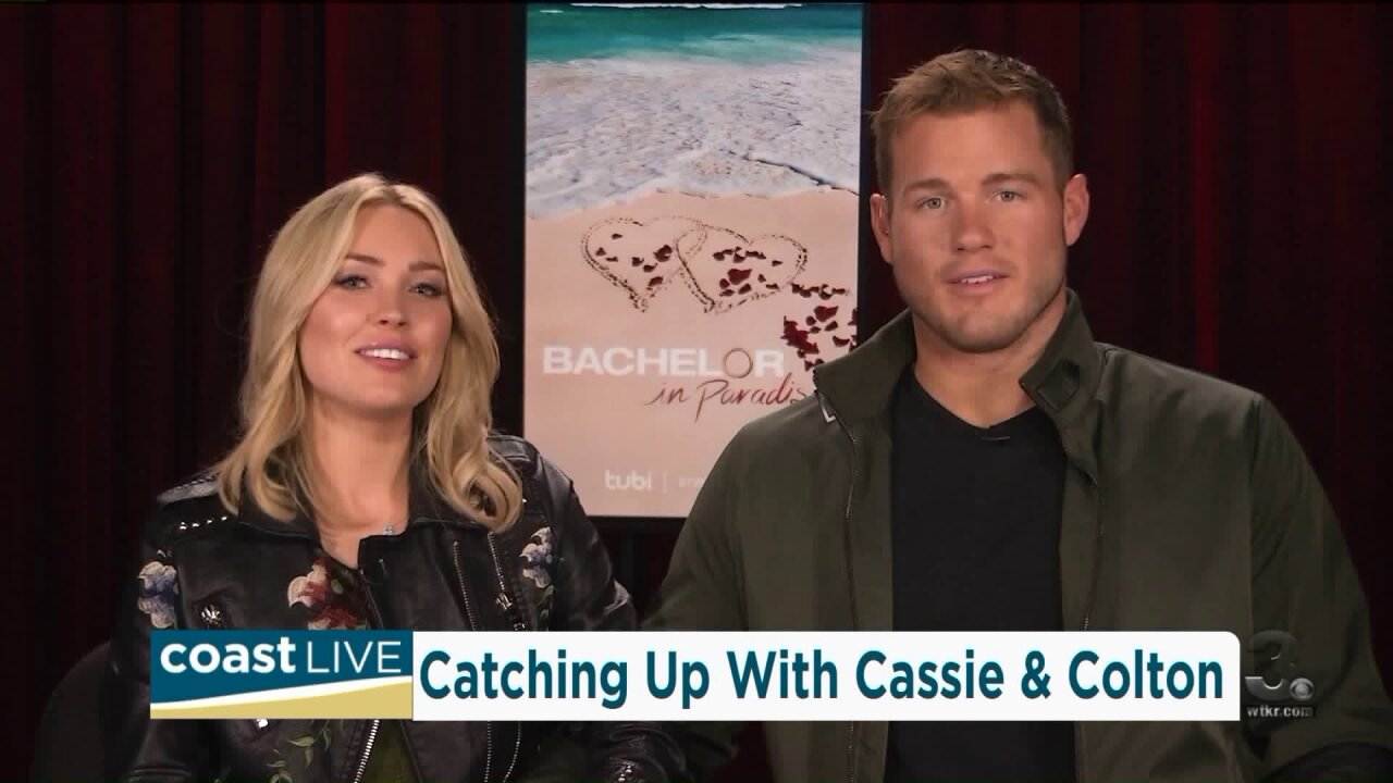 """""""The Bachelor"""" stars Cassie and Colton on CoastLive"""