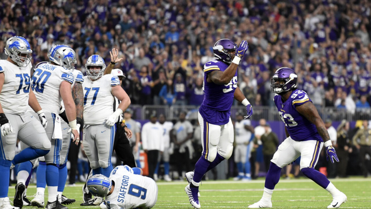 Matthew Stafford sacked 10 times in Lions loss to Vikings