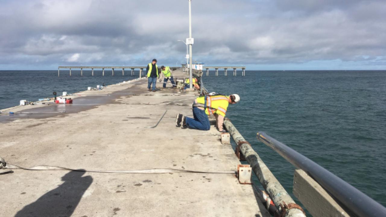 ocean beach pier repair 1
