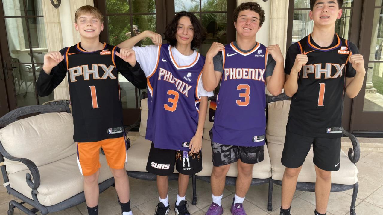 Phoenix Suns fans Hayden, Abel, Adam & Andrew