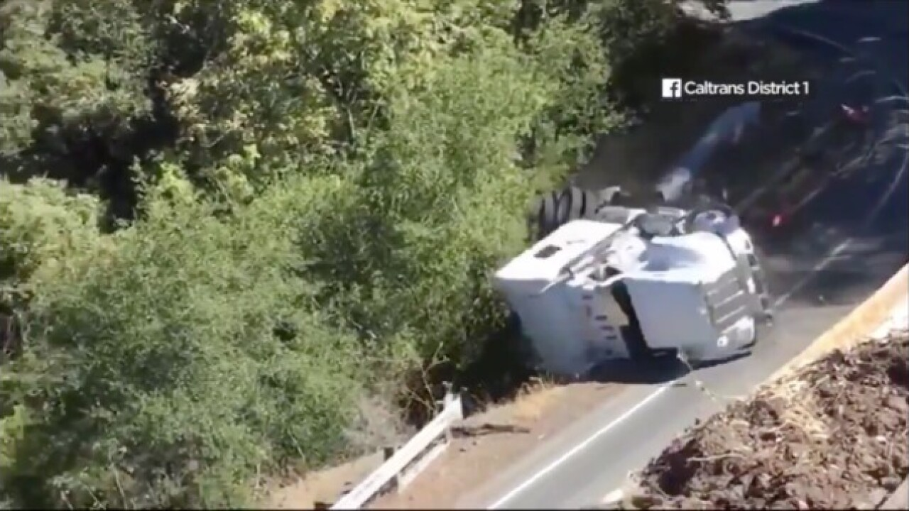 Caltrans issues warning after truck enters restricted road, goes