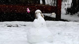 Snowman in Snow in Steamboat.JPG