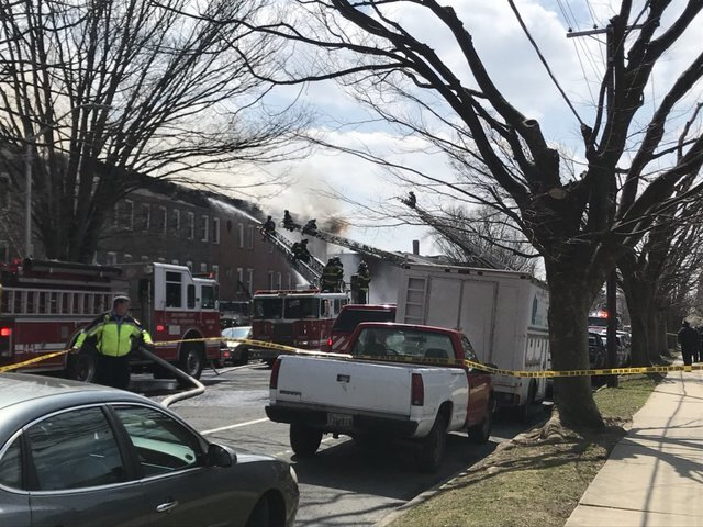 Fire rips through several homes in Baltimore