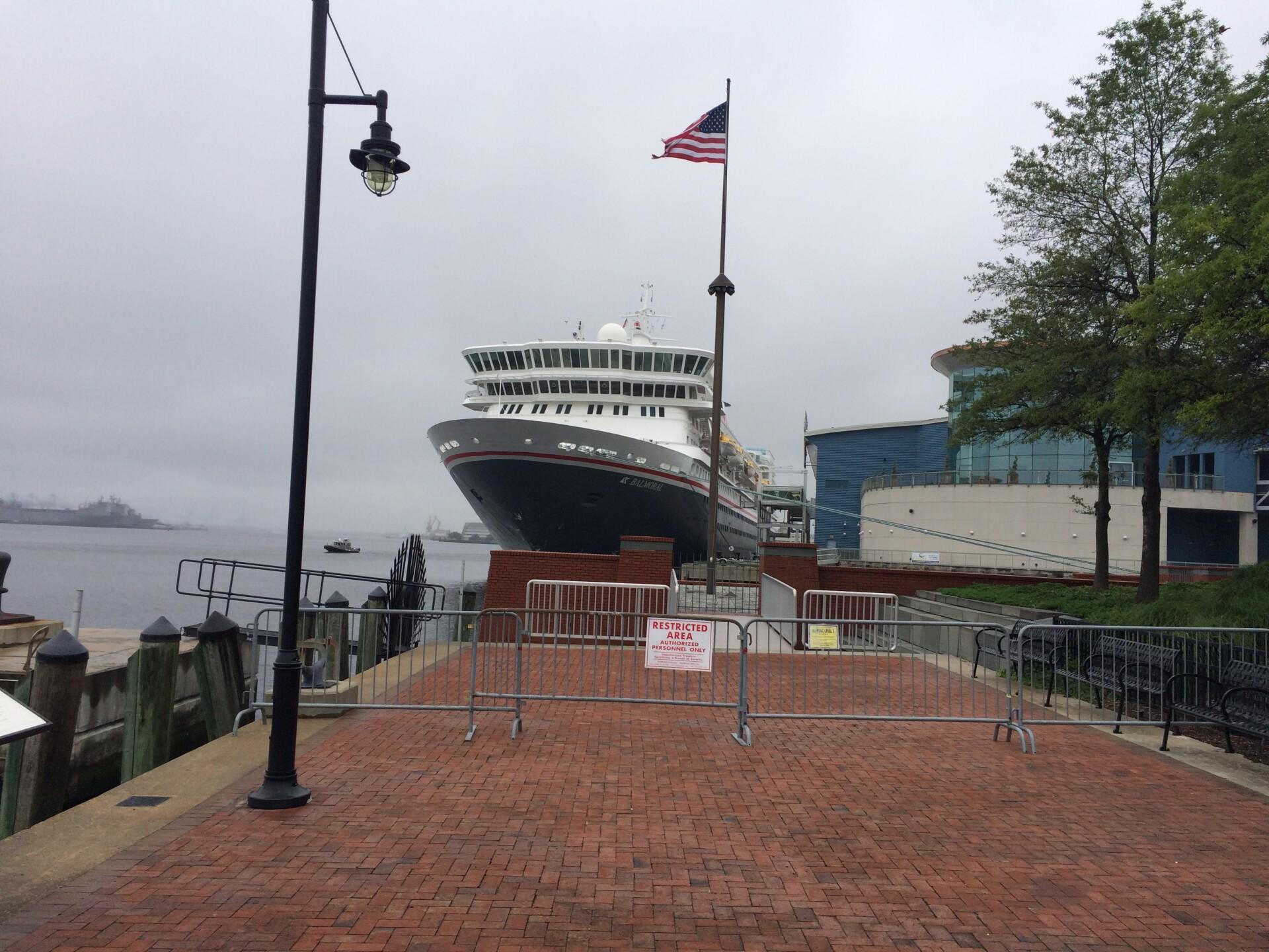 Photos: Cruise ship passengers in Norfolk isolated fornorovirus