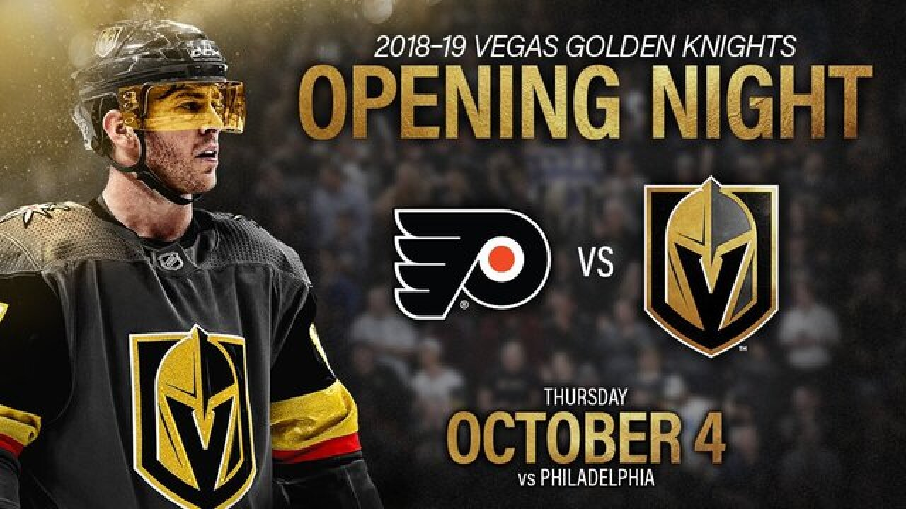 Vegas Golden Knights to play first home game on Oct. 4