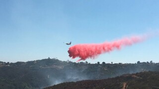Crews work to contain 20 acre brush fire