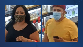 Valley Plaza Mall theft suspects, Bakersfield