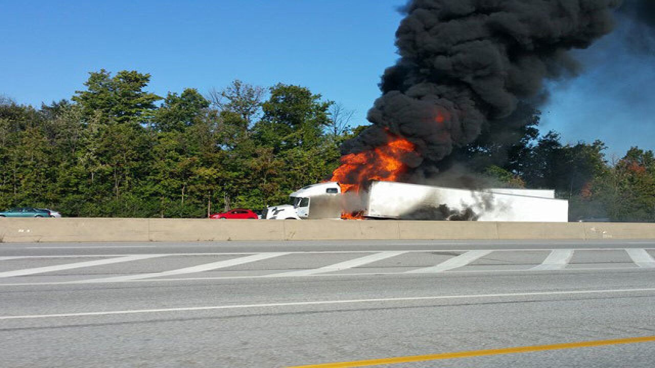 1 dead in fiery I-271 crash