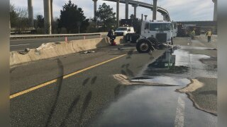 Driver charged in semi crash that spilled diesel, closedI-95