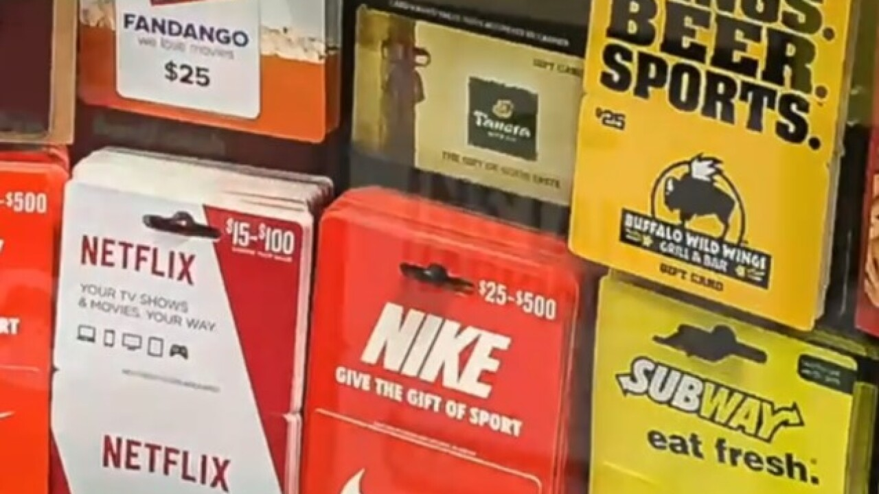 Don't fall victim to the gift card scam; what to look out for