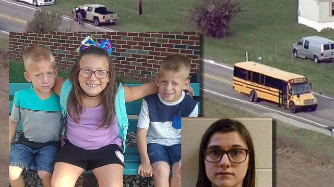 Twin brothers, sister killed at IN bus stop