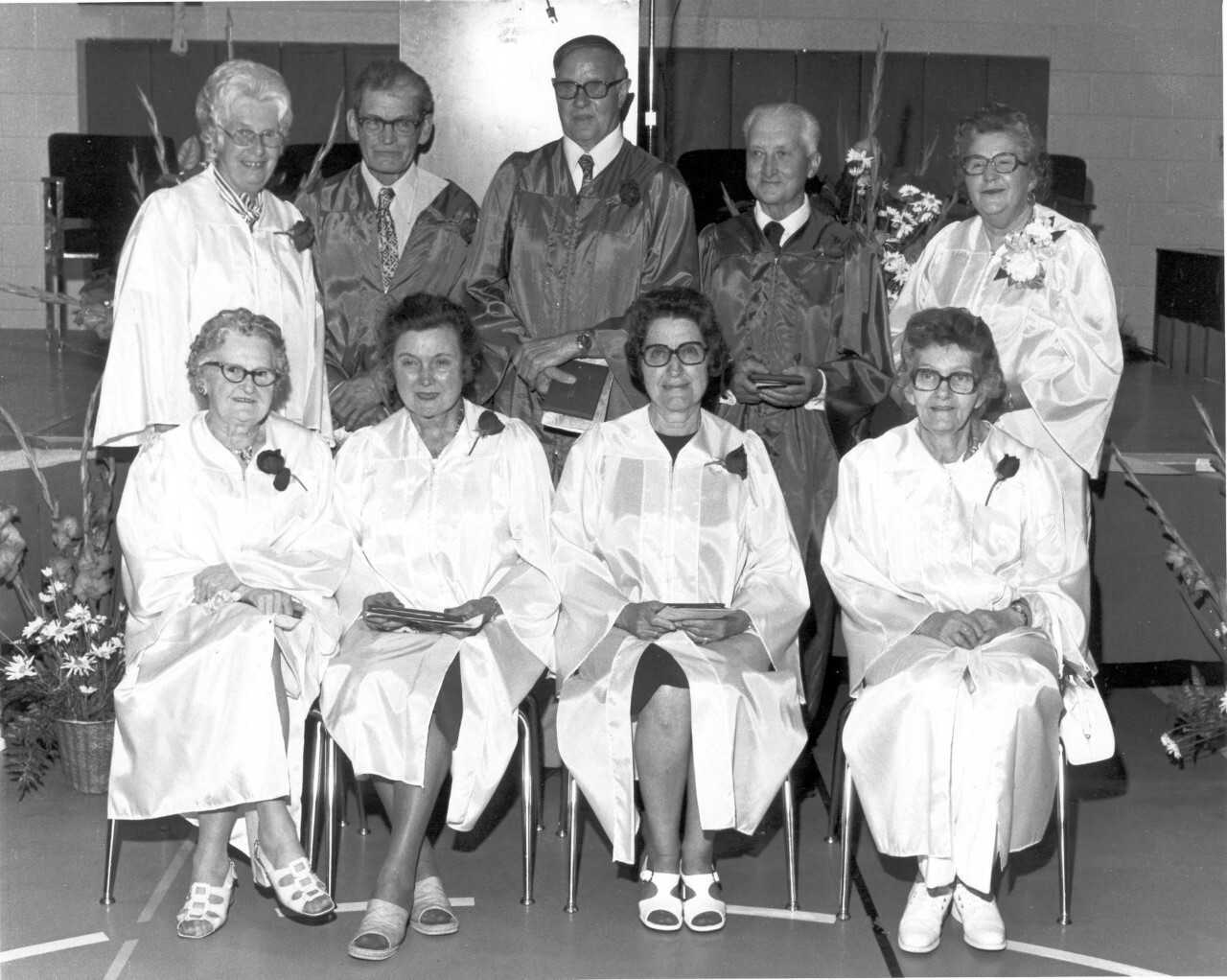 The graduating class of 1927 didn't get their diplomas because of the bombing. They were presented their diplomas in 1977, along with the Bath High School Class of 1977.
