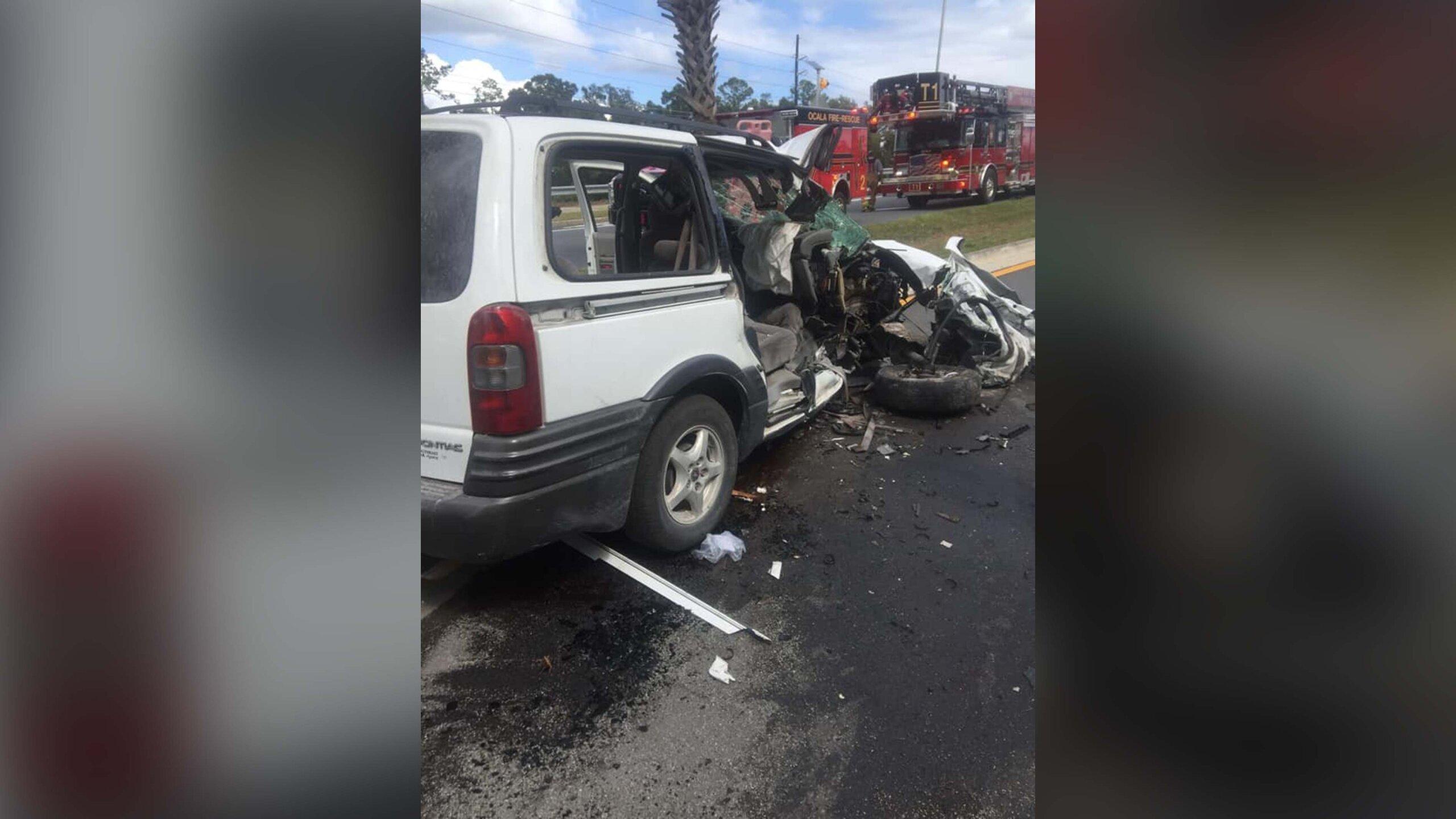Photos: Police say mother tells children to take off seat belts before purposefully crashingvan