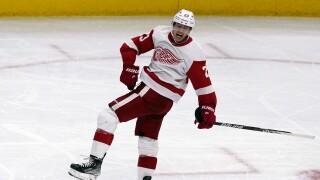 Lucas Raymond Hat Trick Red Wings Blackhawks Hockey