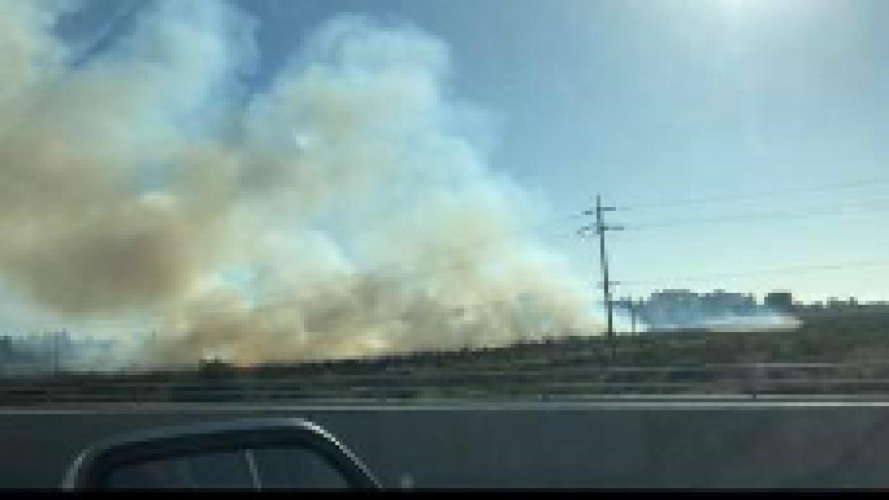 Santa Maria riverbed fire. Photo courtesy Melanie Potter