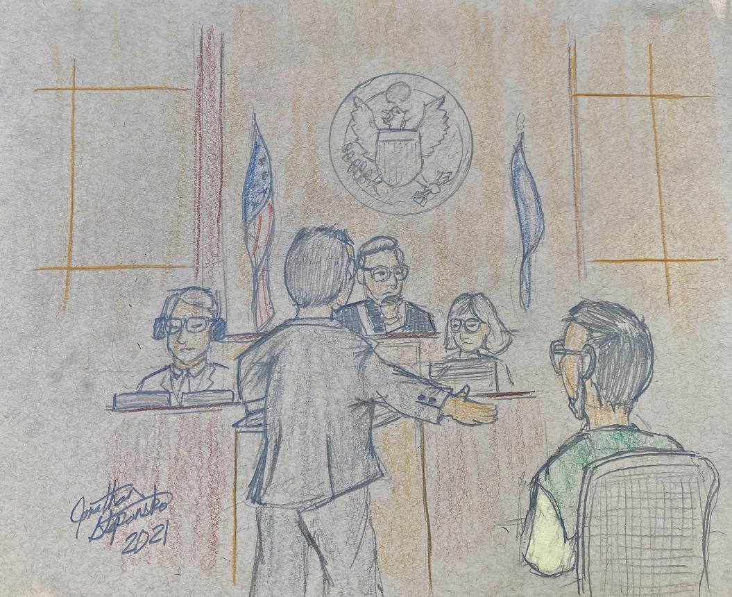 Garbin Court Sketch 1