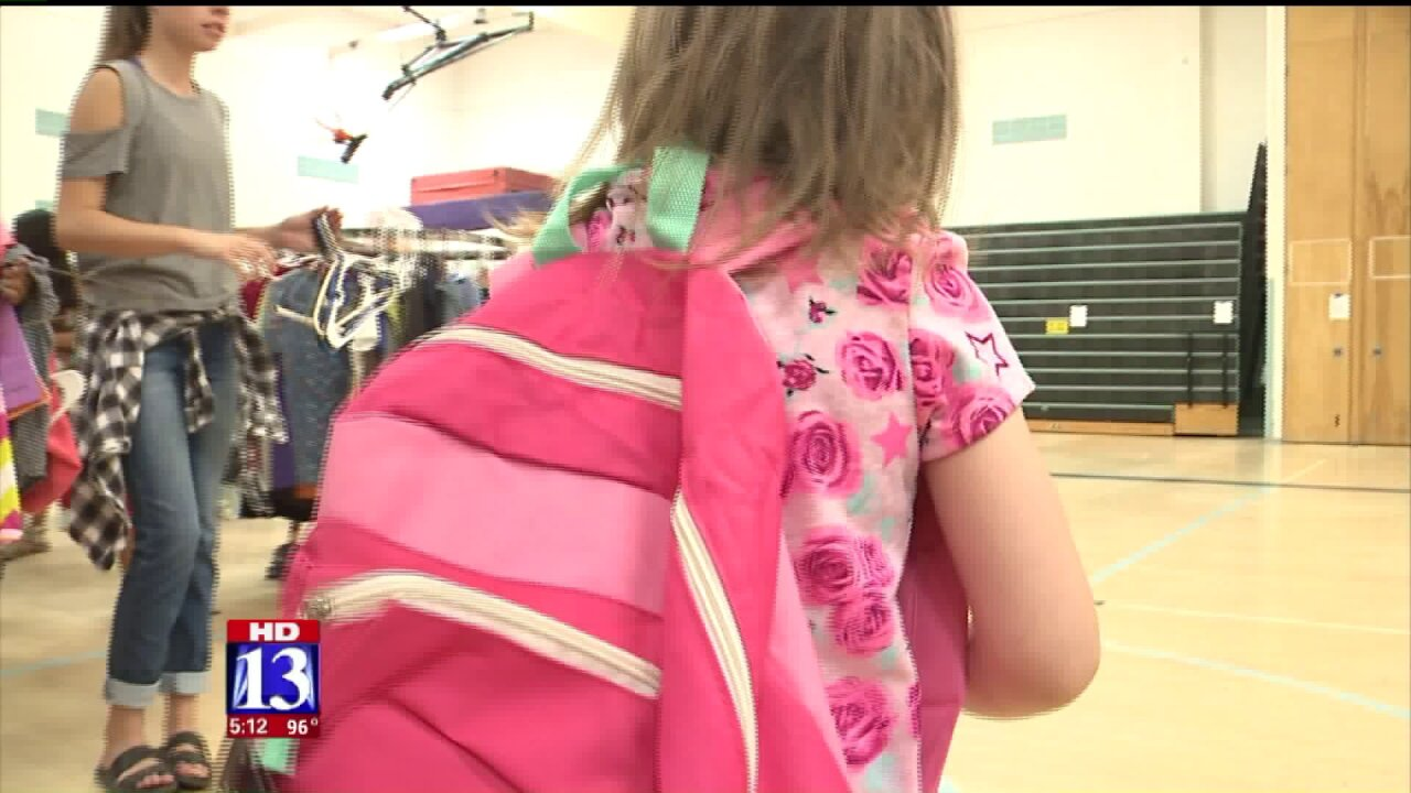 Back-to-School Closet event helps families in Tooele County