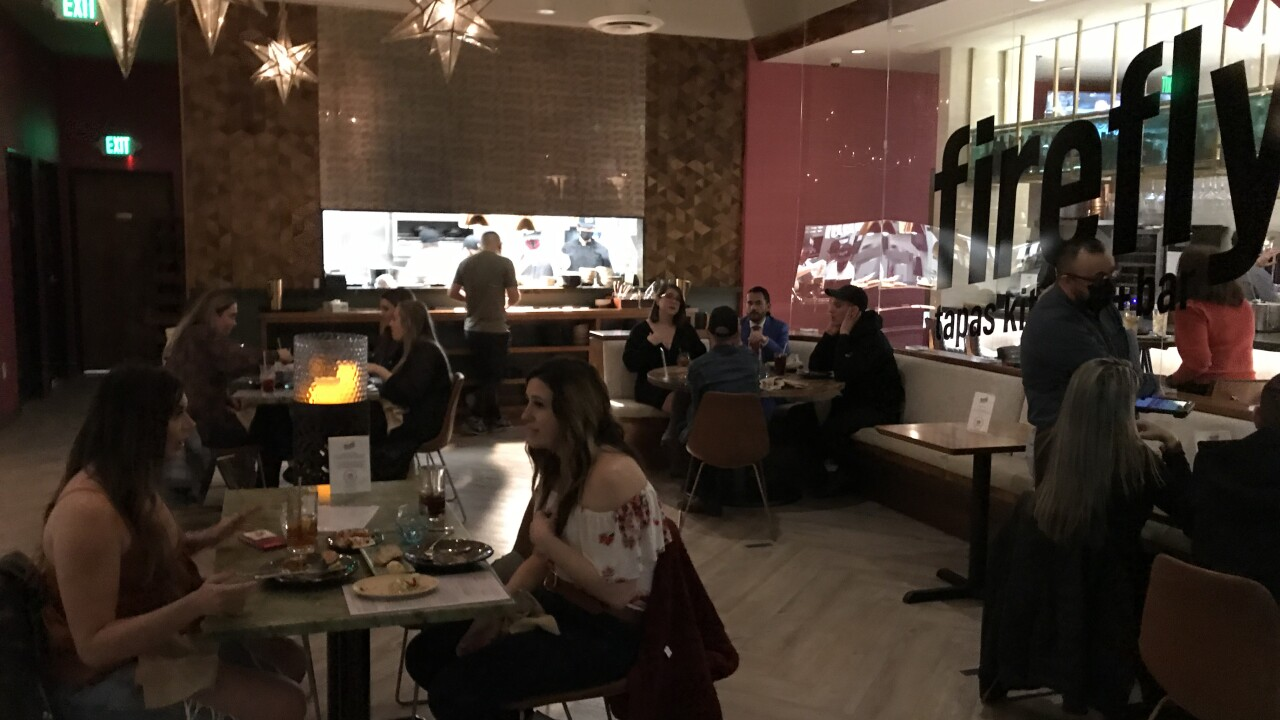Firefly tapas kitchen and bar is located in the southwest part of Las Vegas near South Buffalo Drive and Warm Springs Road.