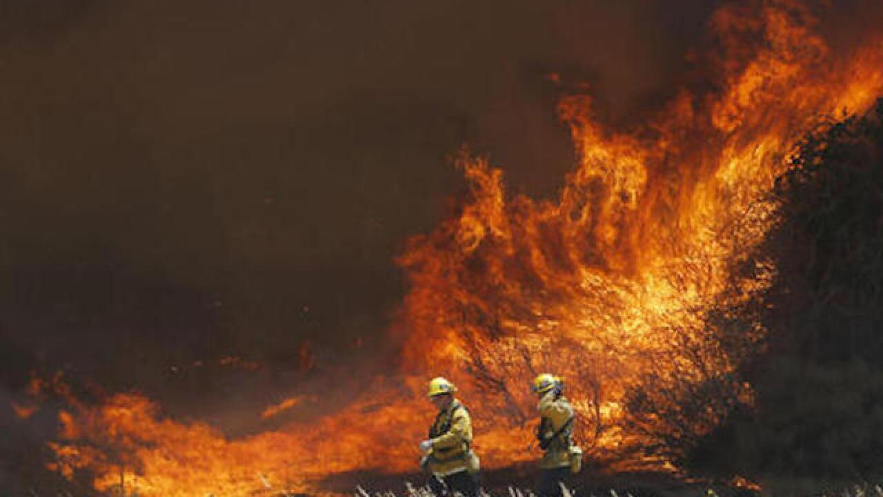 California wildfire was started by illegal campfire, police say
