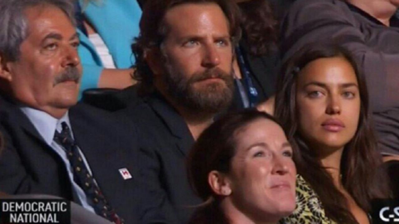 Some Bradley Cooper fans shocked by actor's appearance at DNC