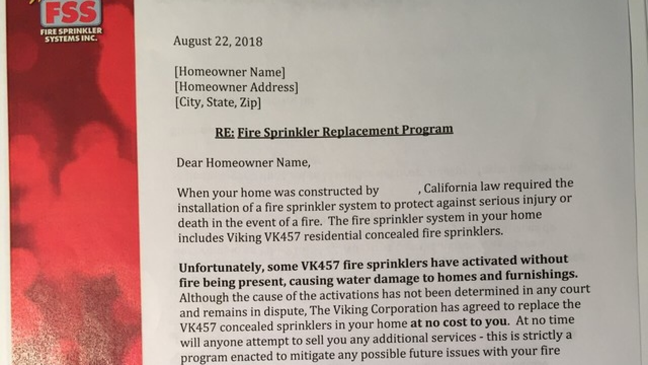 Warning for Nevada homeowners with sprinklers