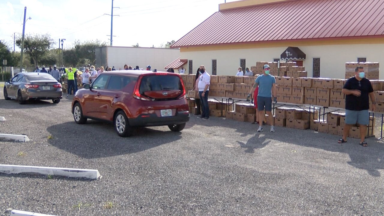St. Paul Missionary Church food distribution