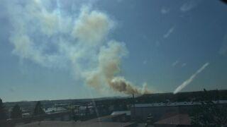 Fire breaks out near Hill 57
