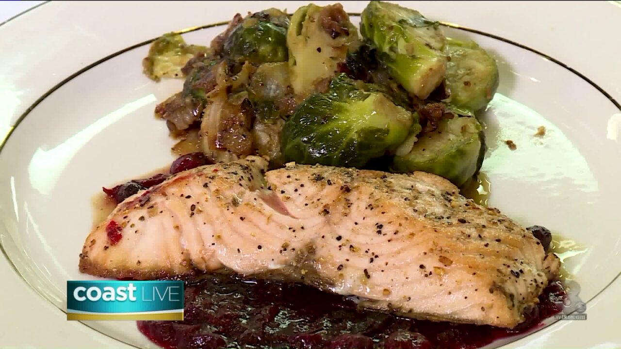 Cooking fresh pan-seared salmon with Chef David Jones on Coast Live