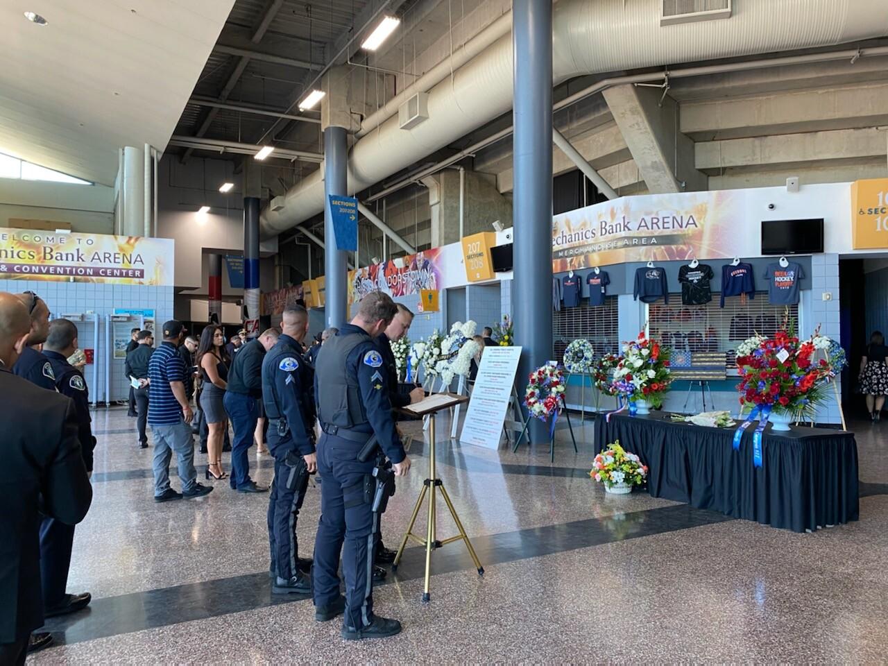 Kern County Sheriff's Office Deputy Phillip Campas' funeral service