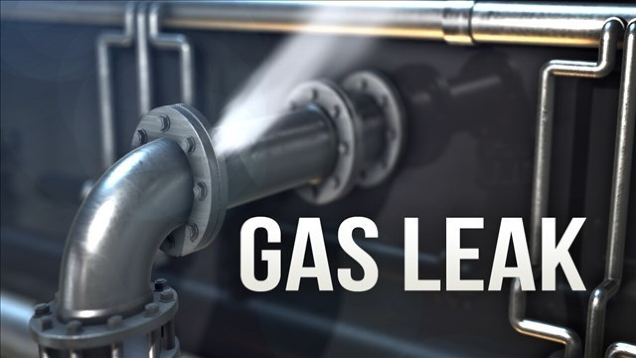 Gas leak leads to a road closure in north Tulsa