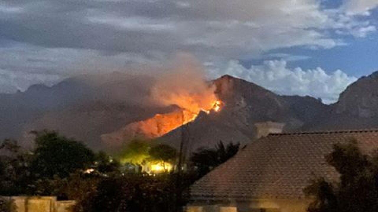 Fire along Pusch Ridge in Oro Valley