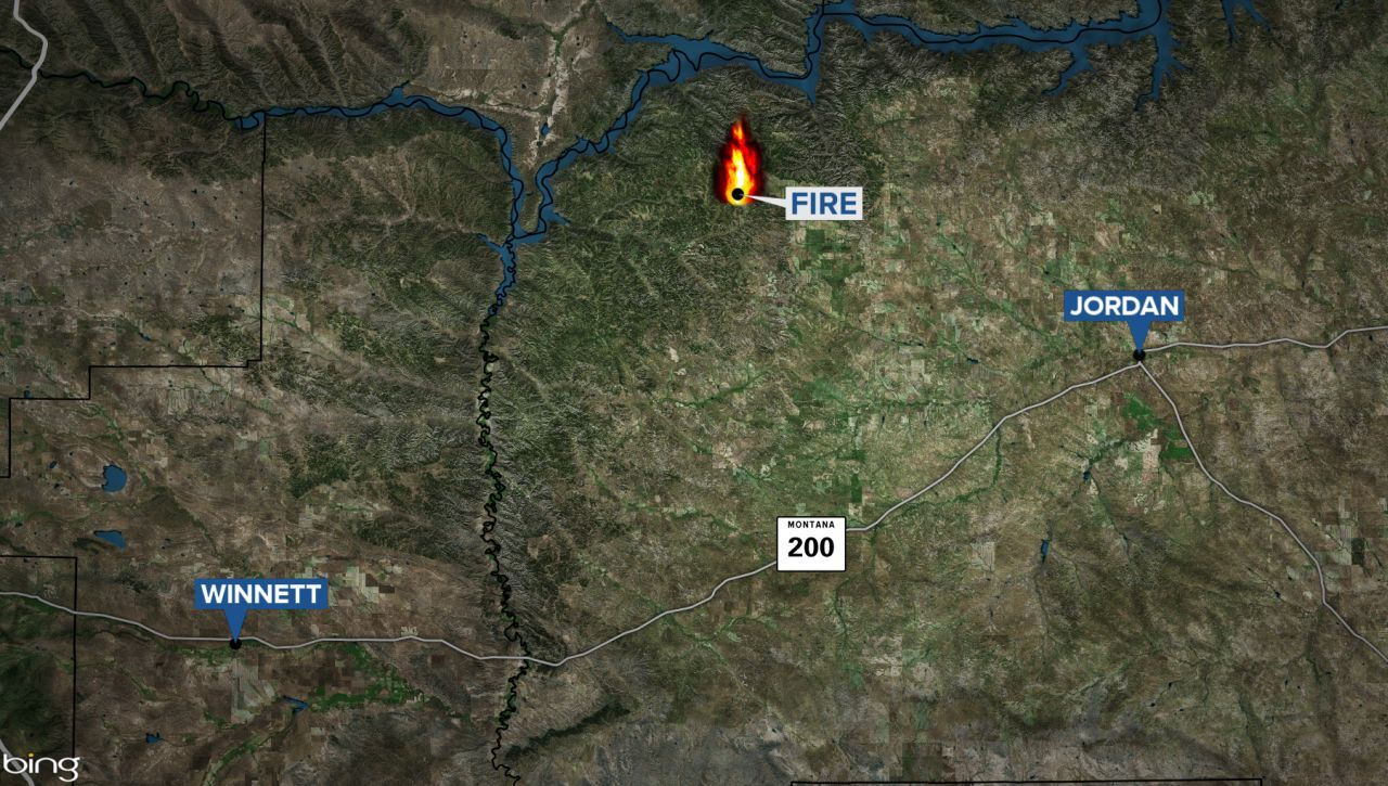 Approximate location of fire in Garfield County