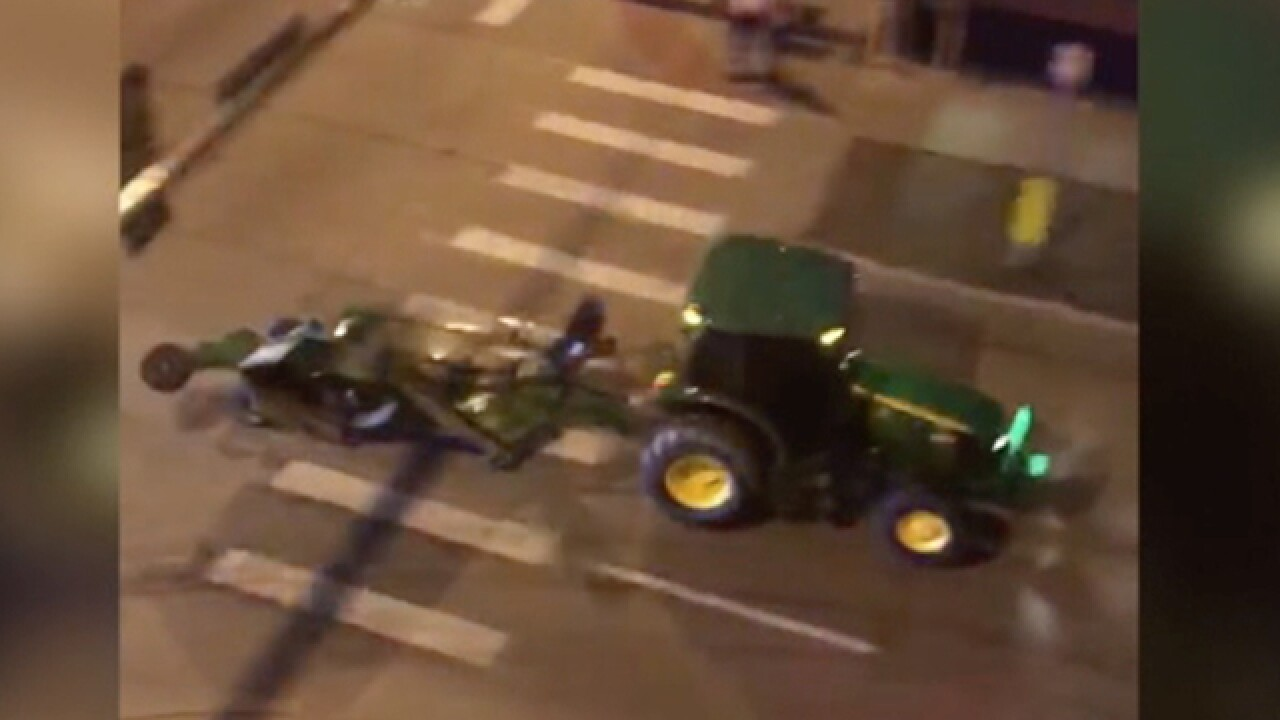 Police probing other incidents in tractor chase