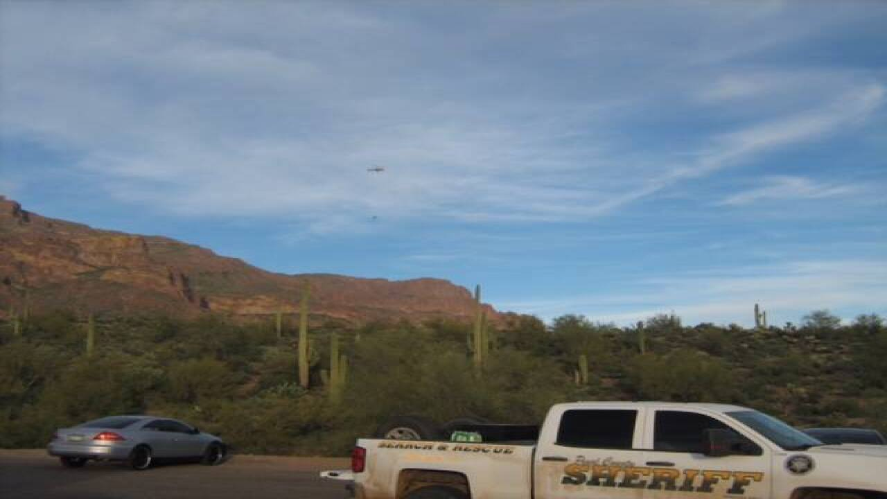 Hiker rescued by PCSO in Superstition Mountains