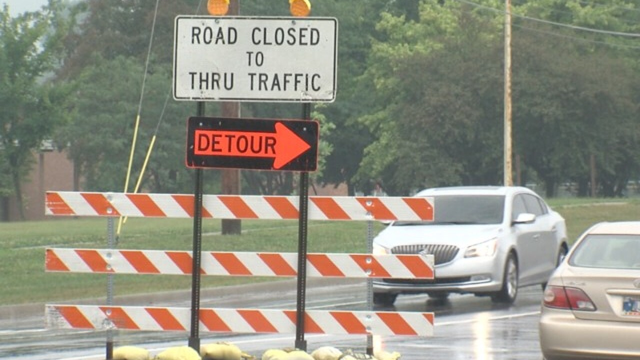 Barricade placement could pose risk for drivers