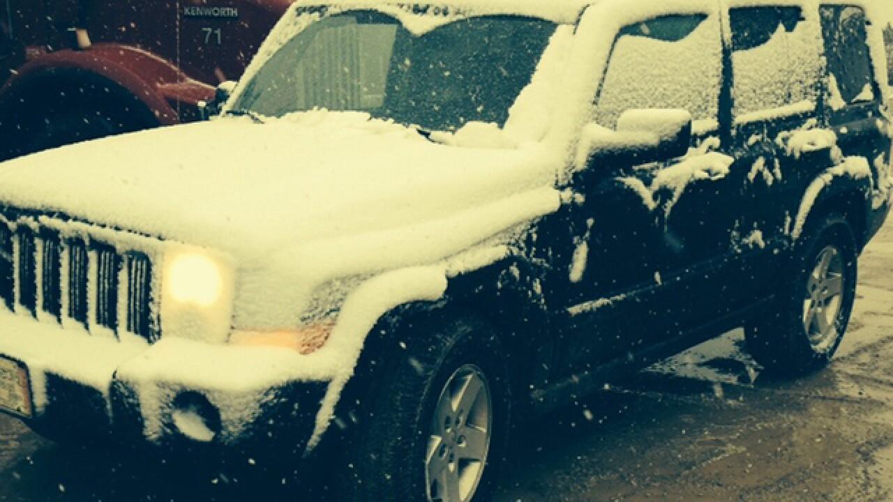 Areas of Michigan, NY see first snow of season