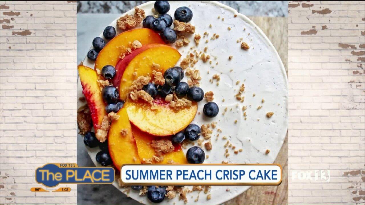 Recipe: Peach CrispCake
