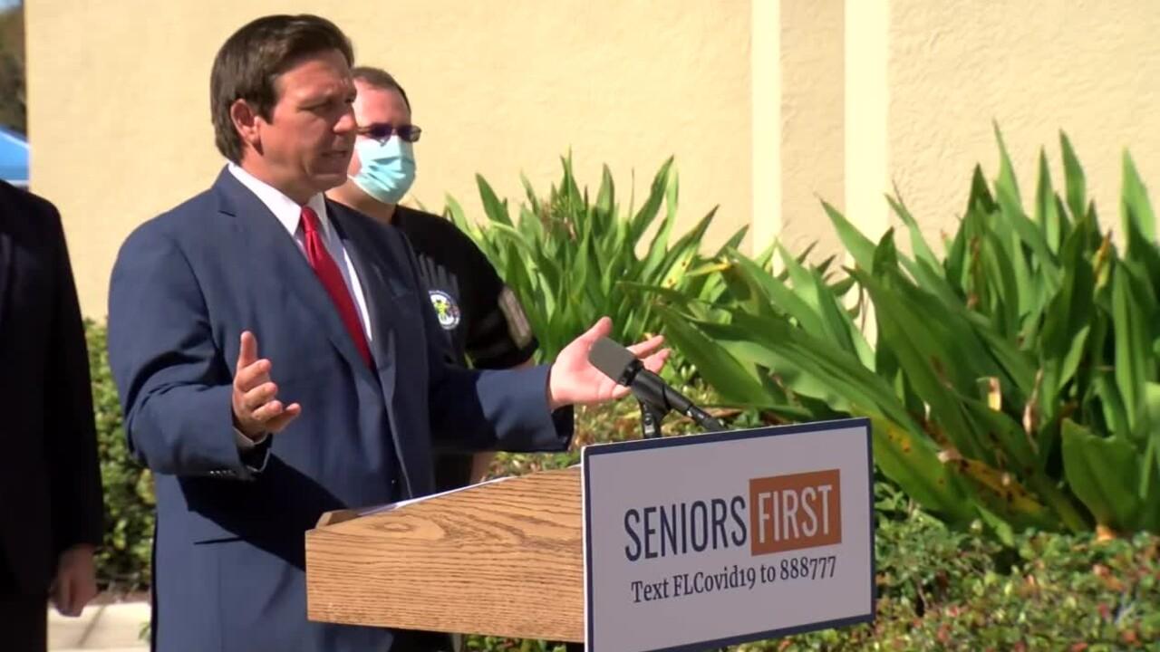 Florida Gov. Ron DeSantis announces a new mass COVID-19 vaccination site at the Venice Community Center on Feb. 10, 2021.jpg