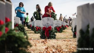 Wreaths for vets 2019